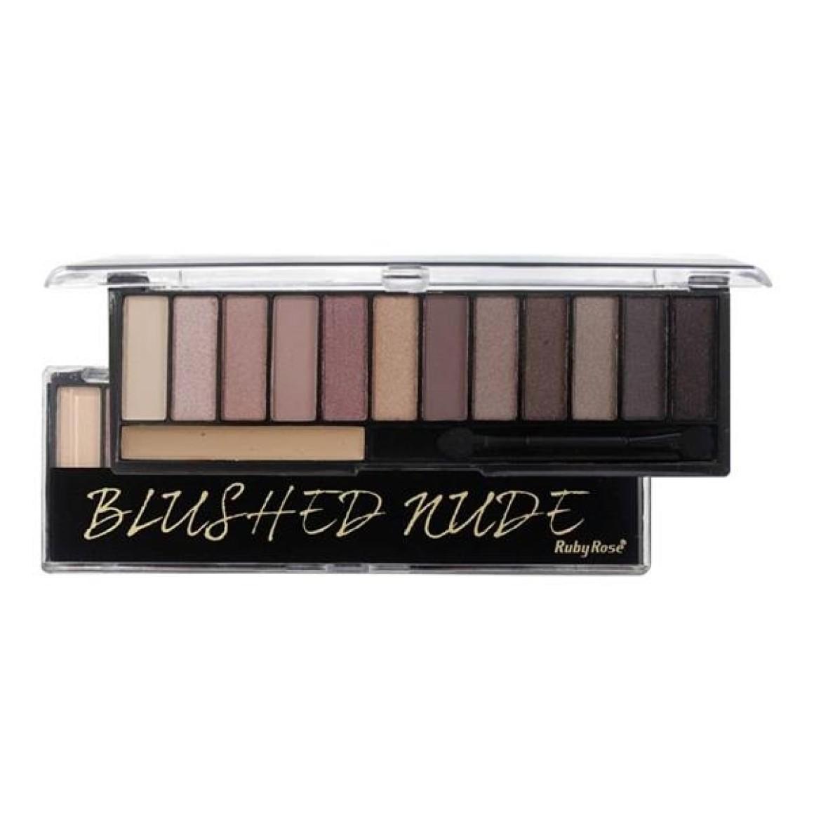 Blushed Nude Kit 12 Sombras + 1 Primer Ruby Rose - HB-9913