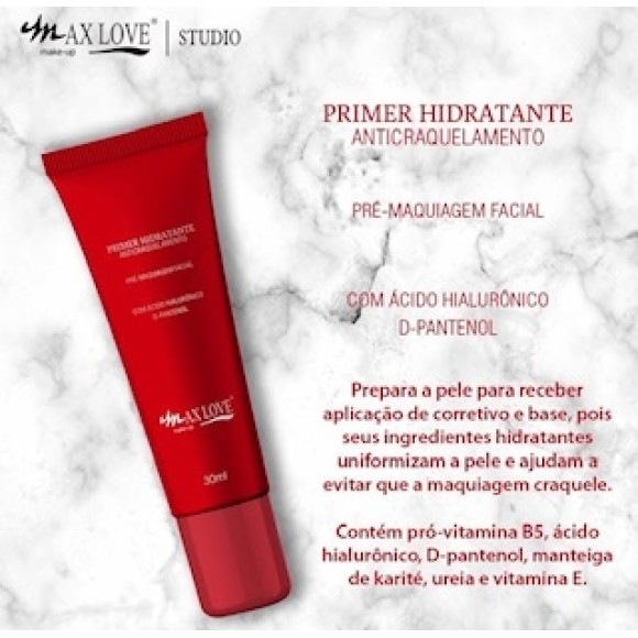 PHAML PRIMER HIDRATANTE ANTICRAQUELAMENTO  HD MAX LOVE C/ 24